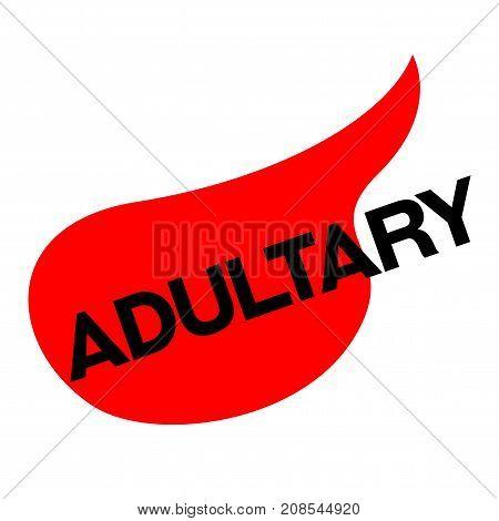 ADULTERY sticker. Authentic design graphic stamp. Original series