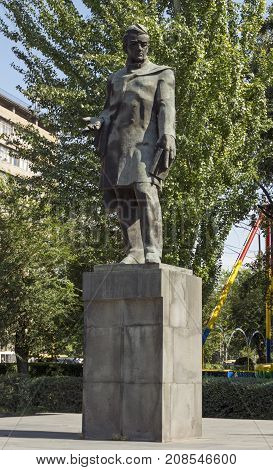 YEREVAN,ARMENIA - SEPTEMBER 30,2017:Alexander Griboedov(1795-1829) - Russian writer diplomat playwright poet and composer..Sculptor H.Bejanyanarchitect S.Kntekhtsyan1974.