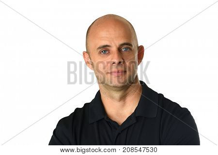 Portrait of young businessman isolated over white background
