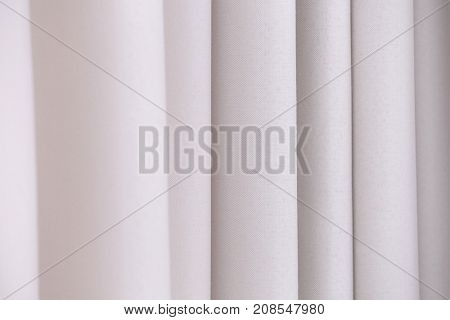 Beautiful silk curtains, closeup