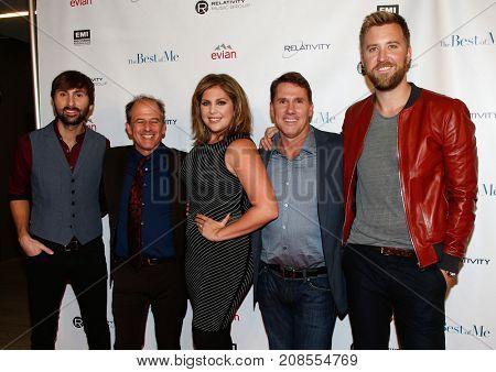 (L-R) Dave Haywood, director Michael Hoffman, Hillary Scott, Nicholas Sparks & Charles Kelley at