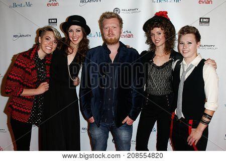 (L-R) Singers Sarah Holbrook, Hannah Holbrook, Gareth Dunlop, Eva Holbrook and Liza Holbrook attend