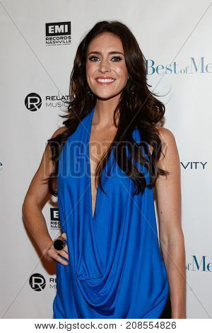 Singer Kelleigh Bannen attends the screening and concert event for