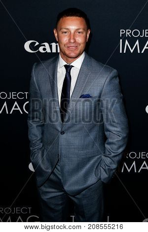 NEW YORK- OCT 24: Actor Lane Garrison attends the global premiere of Canon's