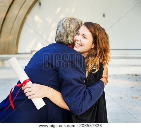 Grad at graduation ceremony