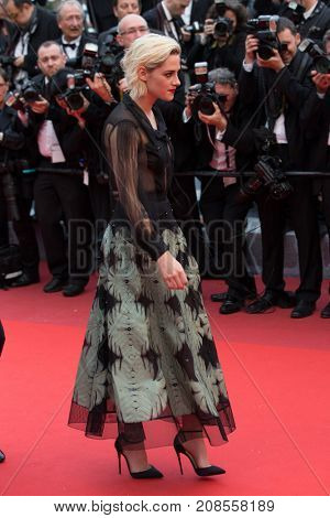 CANNES, FRANCE - MAY 11: K.Stewart attends the 'Cafe Society' premiere and the Opening Night Gala during the 69th annual Cannes Film Festival at the Palais des Festivals on May 11, 2016 in Cannes