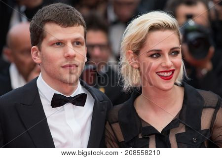 CANNES, FRANCE - MAY 11: J. Eisenberg, K. Stewart attend the 'Cafe Society' premiere and the Opening Night Gala. 69th Cannes Film Festival at the Palais des Festivals on May 11, 2016 in Cannes