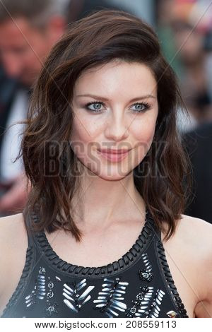 CANNES, FRANCE - MAY 11: Caitriona Balfe attends the 'Cafe Society' premiere and the Opening Night Gala. 69th annual Cannes Film Festival at the Palais des Festivals on May 11, 2016 in Cannes