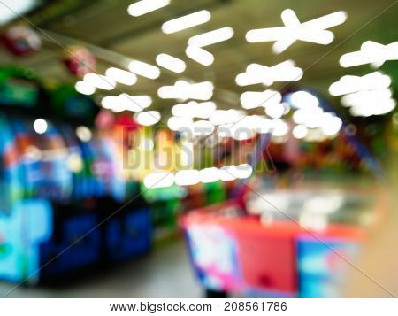 Children's Entertainment Center With Blurred Background And Bokeh Effect