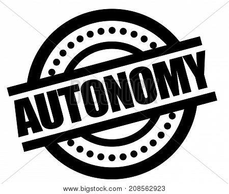 AUTONOMY sticker. Authentic design graphic stamp. Original series
