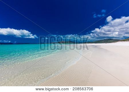 Amazing famous Whitehaven Beach with white sand in the Whitsunday Islands, Queensland, Australia