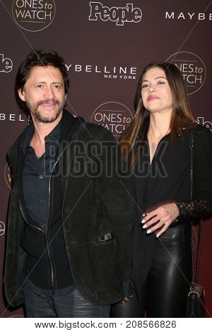 LOS ANGELES - OCT 4:  Clifton Collins Jr, Francesca Fisher-Eastwood at the People's Ones To Watch Party at the NeueHouse Hollywood on October 4, 2017 in Los Angeles, CA