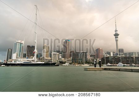 Auckland, New Zealand - APRIL, 2016: Day Skyline of Auckland. New Zealand