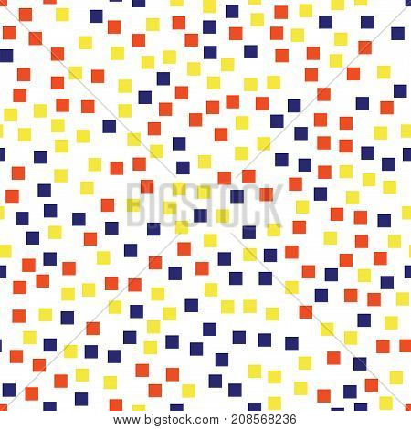 Abstract Squares Pattern. White Geometric Background. Fascinating Random Squares. Geometric Chaotic