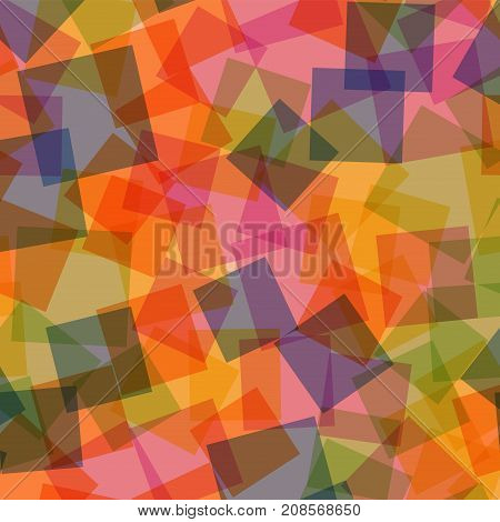 Abstract Squares Pattern. Pink Geometric Background. Alluring Random Squares. Geometric Chaotic Deco