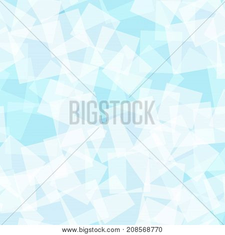 Abstract Squares Pattern. Light Blue Geometric Background. Gorgeous Random Squares. Geometric Chaoti