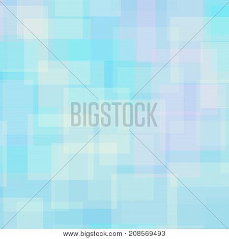 Abstract Squares Pattern. Light Blue Geometric Background. Brilliant Random Squares. Geometric Chaot