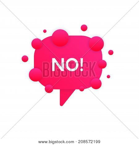 Flat No Bubble Icon Sign Vector Design. Reject Banner