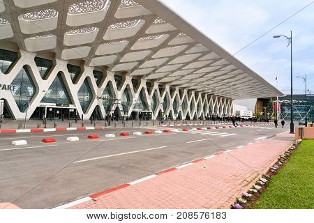 Menara Airport In Marrakesh. Morocco
