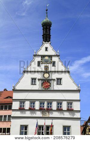 Old Town Hall Of Rothenburg Ob Der Tauber