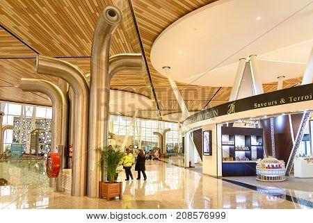 Departure Hall Of Menara Airport In Marrakesh. Morocco