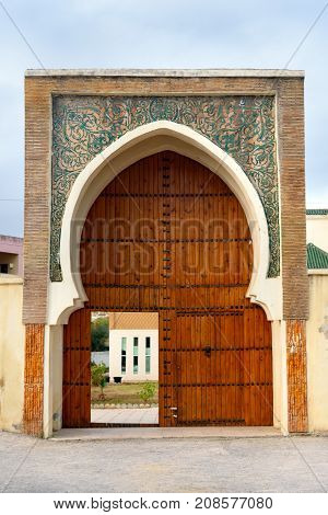 Traditional Moroccan entry gate in Fes. Morocco