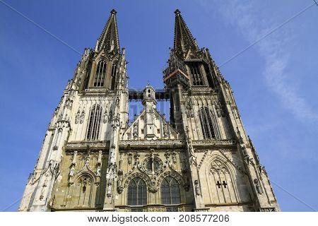 The Regensburg Cathedral St. Peter In Regenburg