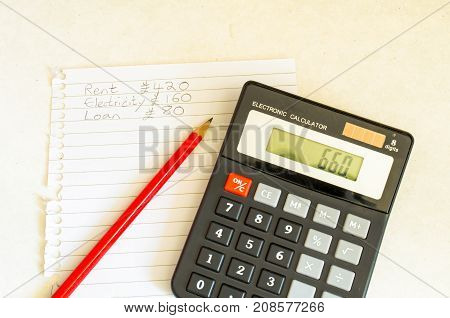 A Studio Photograph Showing the Concept of Household / Personal Finance Budgeting