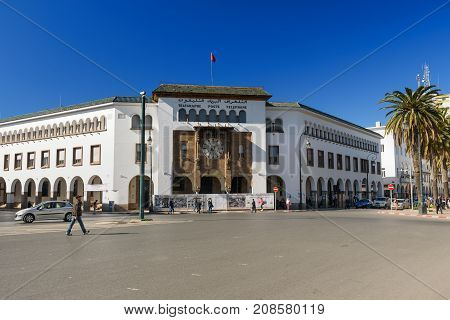Main Post Office In Rabat. Morocco