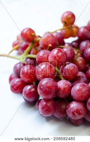 A Bunch of 'Flame' Variety (Vitis Vinifera) Grapes