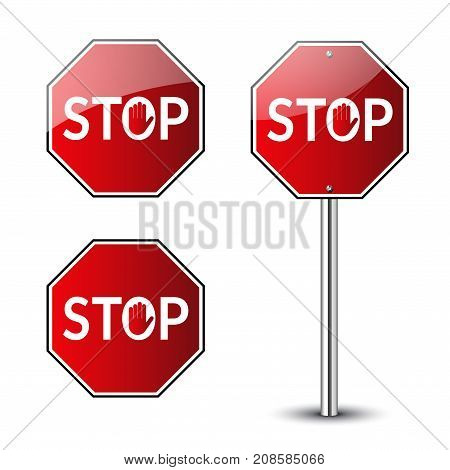Stop Traffic Road Signs