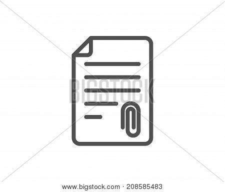 Cv Attachment Line Icon. Document Sign.