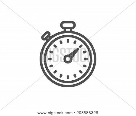 Timer Line Icon. Stopwatch Sign.