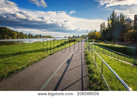 Riverbank Of Vah River In Piestany (slovakia) – Bike Route