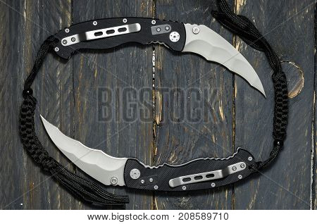 A Combination Of Knives. Knives In The Form Of A Circle.