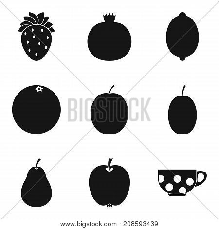 Additive for tea icons set. Simple set of 9 additive for tea vector icons for web isolated on white background