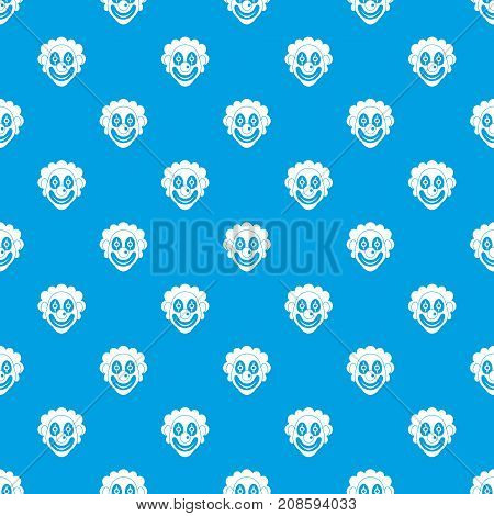 Clown pattern repeat seamless in blue color for any design. Vector geometric illustration