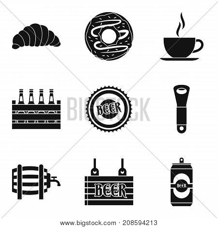 Beer on draft icons set. Simple set of 9 beer on draft vector icons for web isolated on white background