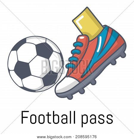 Football pass icon. Cartoon illustration of football pass vector icon for web