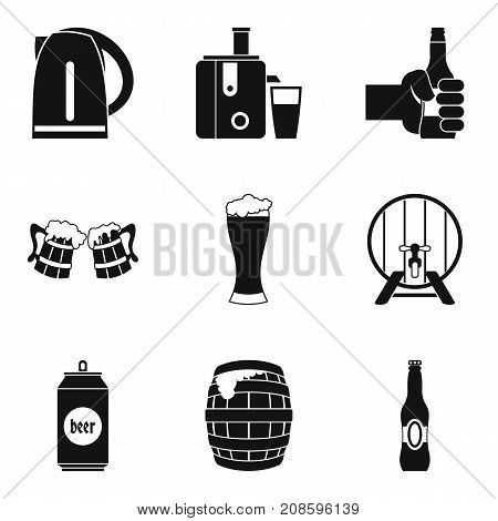 Suds icons set. Simple set of 9 suds vector icons for web isolated on white background poster