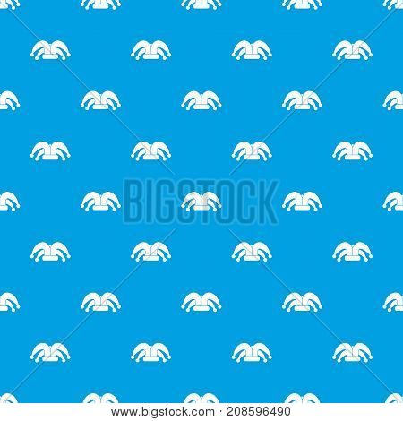 Clown hat pattern repeat seamless in blue color for any design. Vector geometric illustration