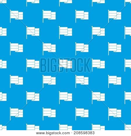 Striped flag pattern repeat seamless in blue color for any design. Vector geometric illustration