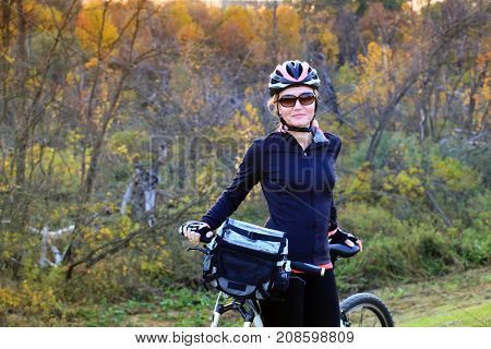 Cycling, mountain bikeing woman