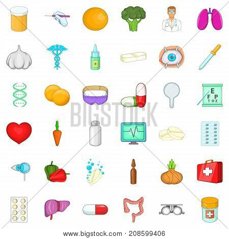 Pipette icons set. Cartoon style of 36 pipette vector icons for web isolated on white background