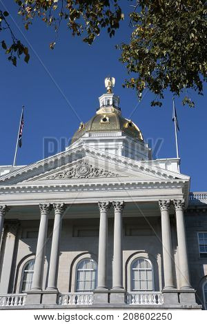 The New Hampshire State House, located in Concord at 107 North Main Street, is the state capitol building of New Hampshire.