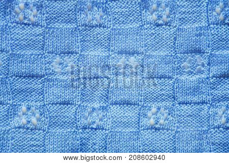 Blue Knitted Fabric Texture