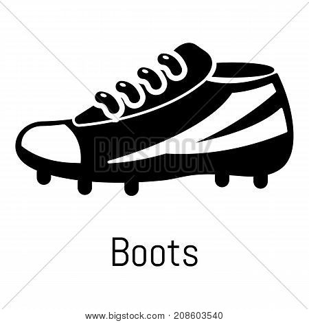 Football boots icon. Simple illustration of football boots vector icon for web