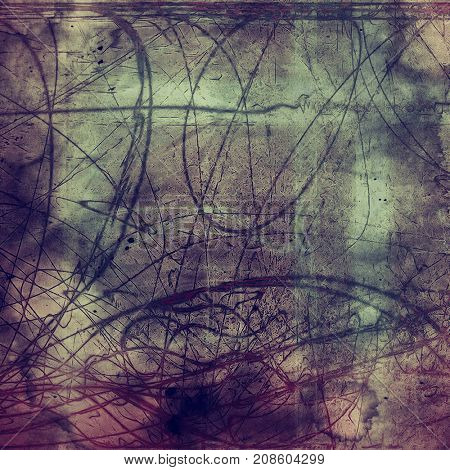 Grunge abstract textured background, aged backdrop with different color patterns