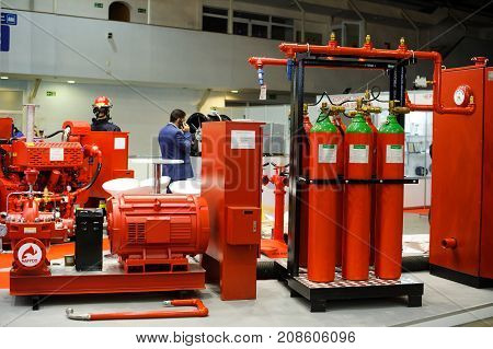 Industrial Fire Protection System Demonstrated At The Exhibition In Kiev
