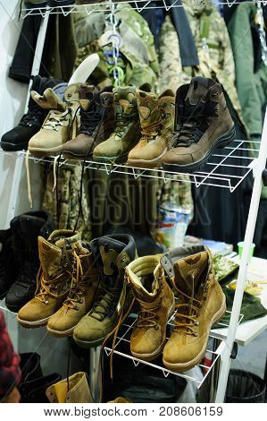 Stand With Tactical Shoes Production Ukraine At The Exhibition